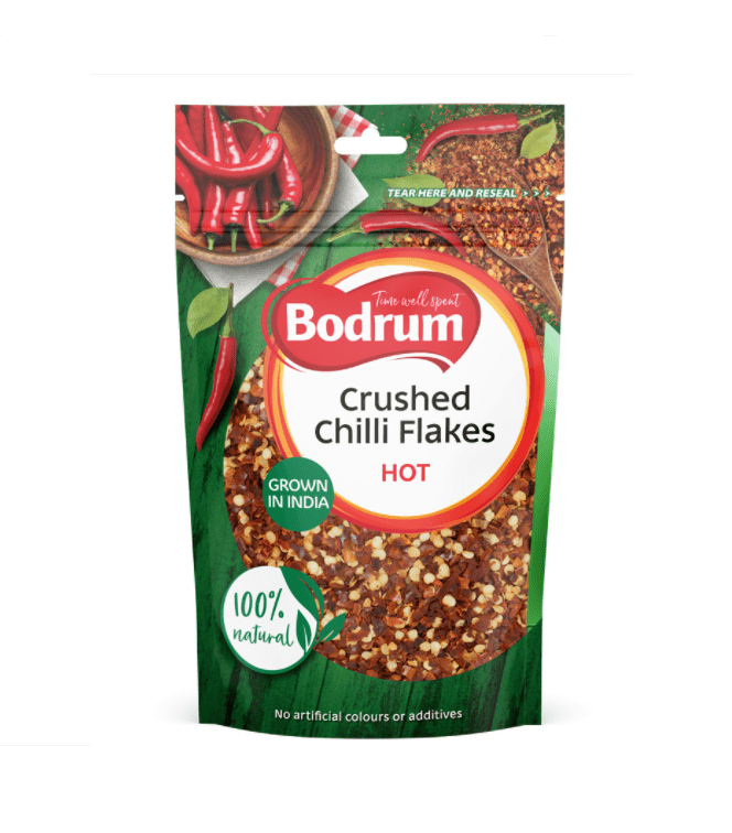 Bodrum Crushed HOT Chilli Flakes (Resealable Pouch) | Buy Online at The Asian Cookshop.