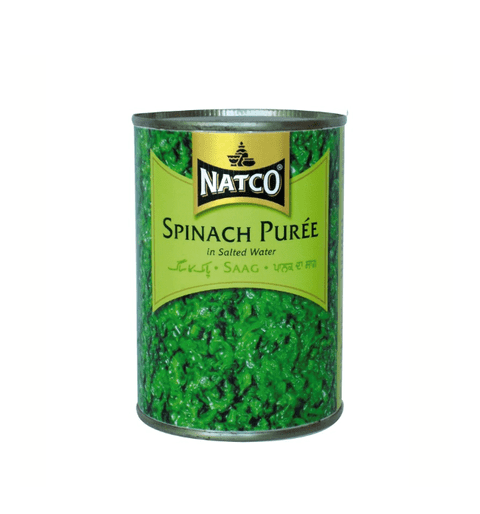 Canned Chopped Spinach Puree (Saag)