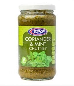 Coriander & Mint Chutney by Topop | Buy Online at the Asian Cookshop