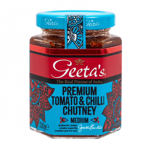 Geeta's Premium Tomato & Chilli Chutney | Buy Online at the Asian Cookshop