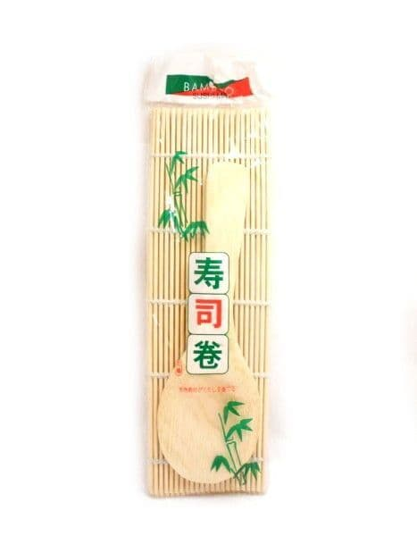 Sushi Bamboo Rolling Mat Set With Spatula | Buy online at The Asian Cookshop