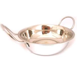 Budget Stainless Steel Balti Dish   Buy Online at The Asian Cookshop.