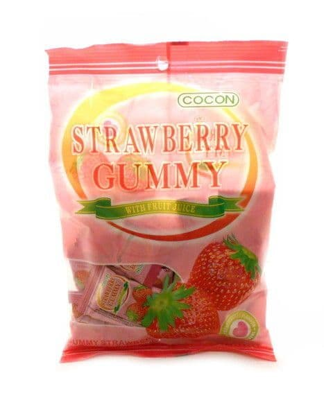 Strawberry Gummy [Jelly Sweets With Fruit Juice] by Cocon