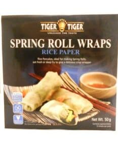 Tiger Tiger Spring Roll Wrappers (Rice Paper Wraps) | Buy Online at The Asian Cookshop