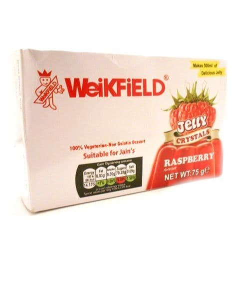 Vegetarian Jelly Crystals | Raspberry By Weikfield