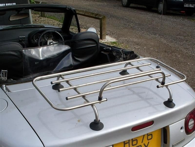Boot / luggage rack, stainless steel, s/s, with fitting kit