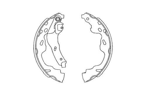 Brake shoes, rear, Suzuki Swift mk4 Hungary, 2005-12, KBS-9905