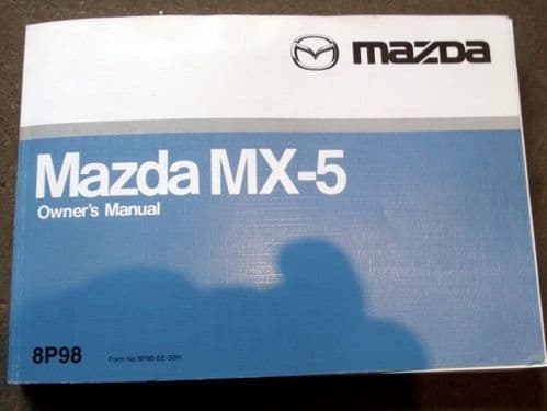 Handbook, Mazda MX-5 mk2.5, 2001, 8P98, Nov-2001, USED