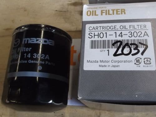 Oil filter, genuine Mazda MX-5 mk3 NC 1.8 & 2.0, 2005 on, SH0114302A