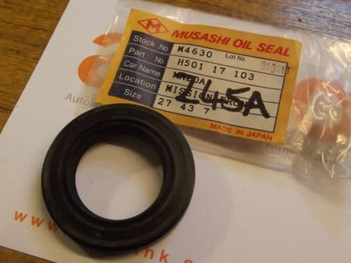 Oil seal, gearbox input shaft, Mazda MX-5, 5-speed, 1989-2005, H50117103, Musashi