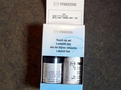 Paint touch up kit, genuine Mazda, 32G Brilliant Carbon Grey