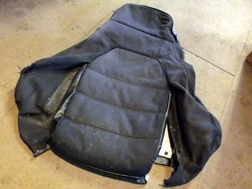 Seat cover, back, r/h, black cloth, Mazda MX-5 / Roadster mk1 high back, 89-93, right hand, USED 02