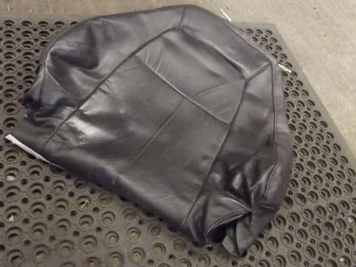 Seat cover, back, r/h, black leather, Mazda MX-5 mk1 or mk2, 1995-2000, right hand, USED 03