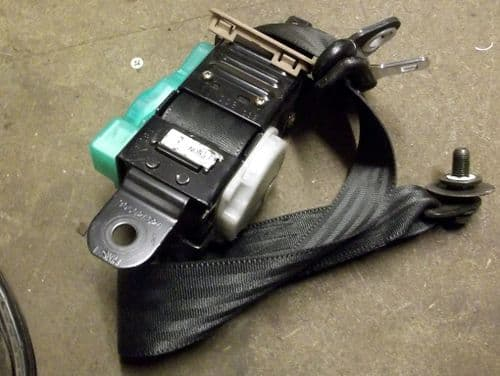 Seatbelt, Mazda MX-5 mk2 1998-2000, black/tan, no pretensioner, USED