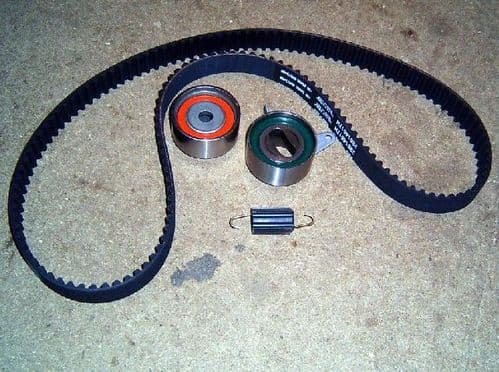 Timing belt kit, Mazda MX-5 all models, 4-piece, cambelt, tensioner, idler & spring, 1989-2005