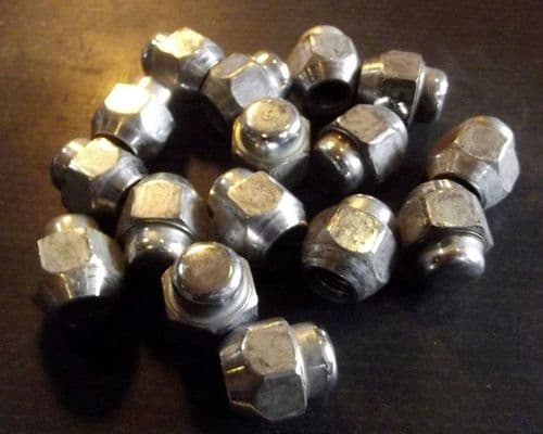 Wheel nuts, set of 16 x chrome domed type, Mazda MX-5 & Eunos Roadster, B00237160A, USED