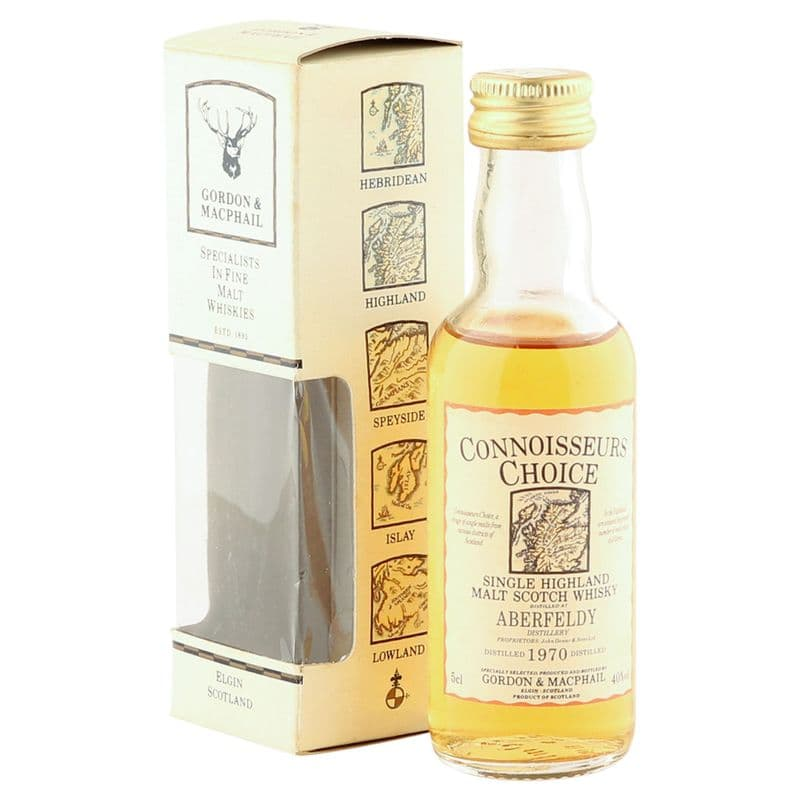 Aberfeldy 1970, Gordon & MacPhail Connoisseurs Choice 5cl Miniature