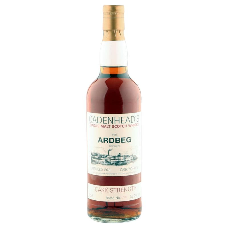Ardbeg 1978, Cadenhead's Cask Strength Bottling, Cask #4825