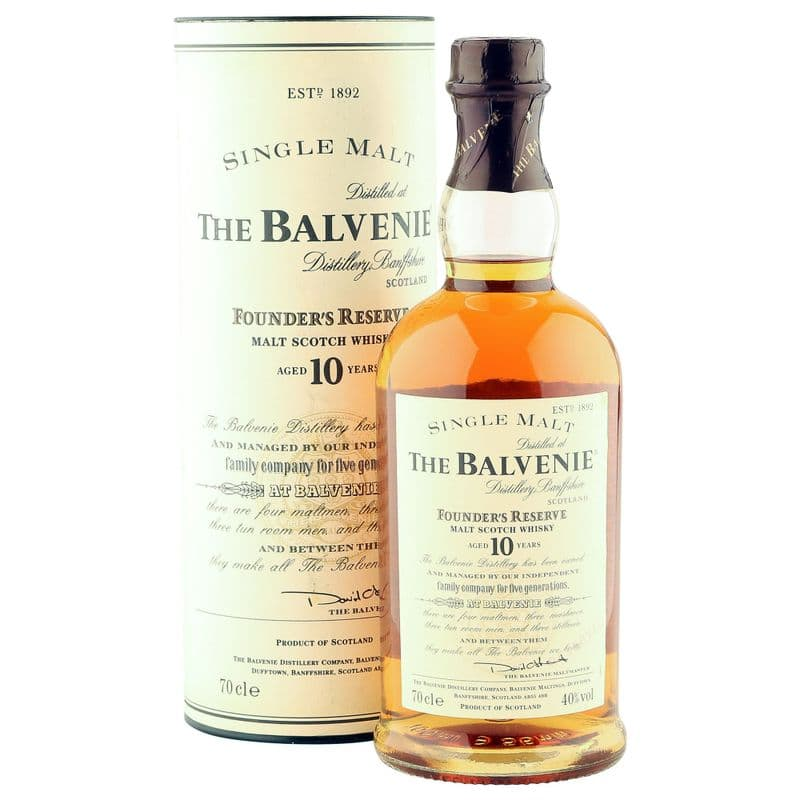 Balvenie 10 Year Old, Founders Reserve with Tube