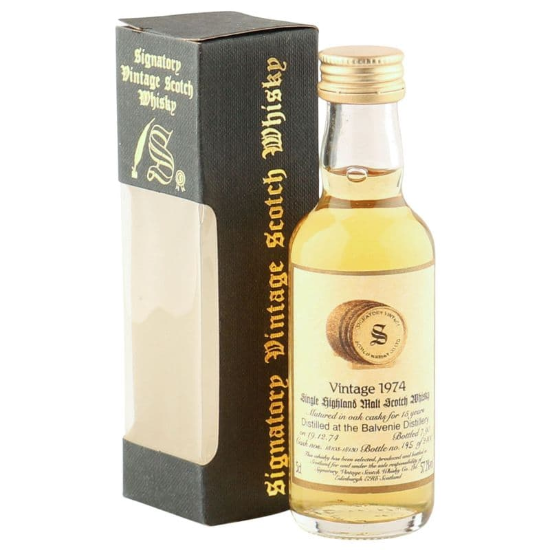 Balvenie 1974 15 Year Old, Signatory Vintage 5cl Miniature
