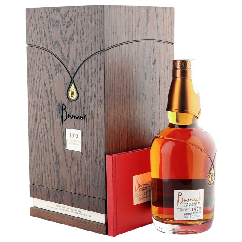 Benromach 1973 45 Year Old, Single Cask #4607 Bottling with Oak Case