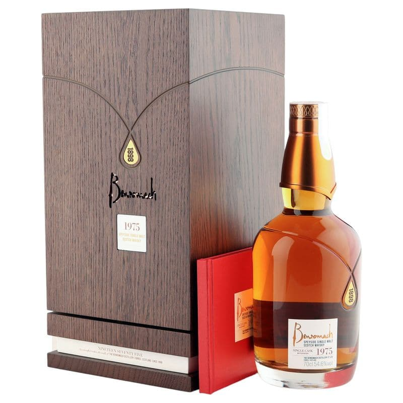 Benromach 1975 43 Year Old, Single Cask #2230 Bottling with Oak Case