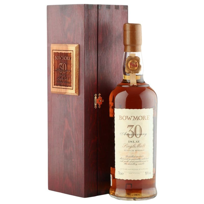 Bowmore 1963 30 Year Old, 30th Anniversary 1993 Bottling with Presentation Case