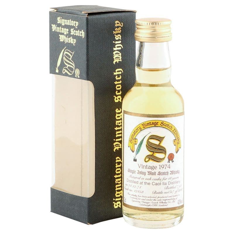 Caol Ila 1974 18 Year Old, Signatory Vintage 5cl Miniature