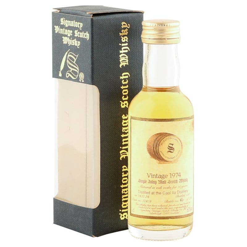 Caol Ila 1974 19 Year Old, Signatory Vintage 5cl Miniature