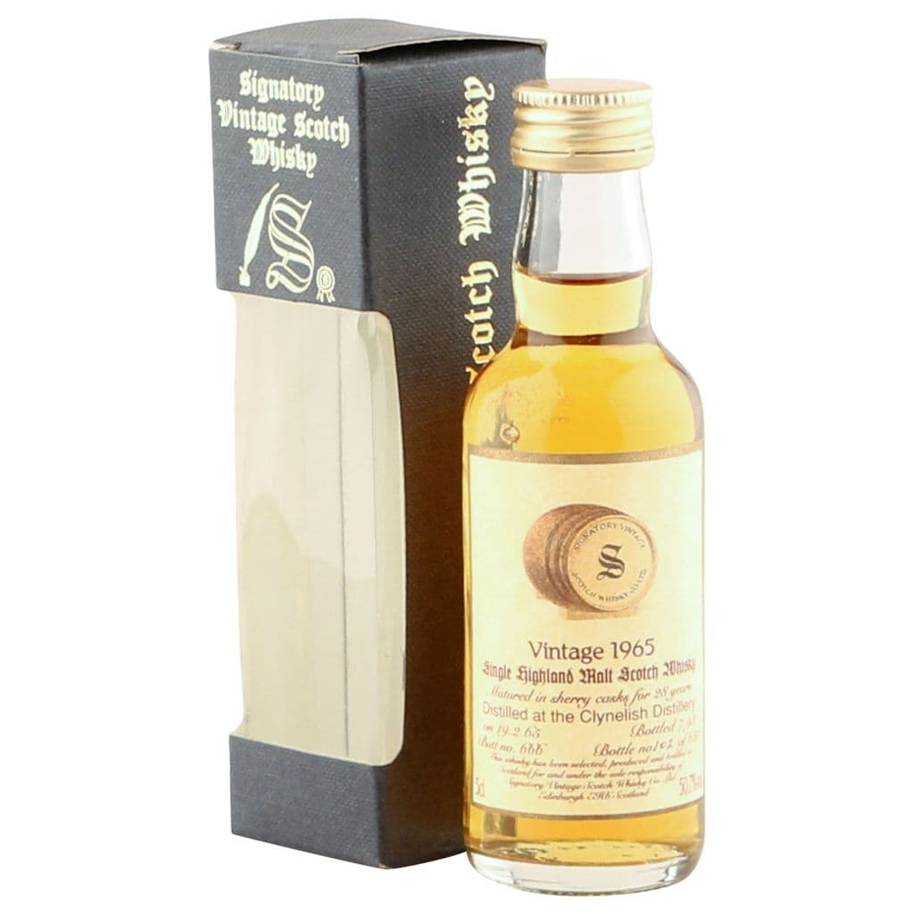 Clynelish 1965 28 Year Old, Signatory Vintage 5cl | The Whisky Vault
