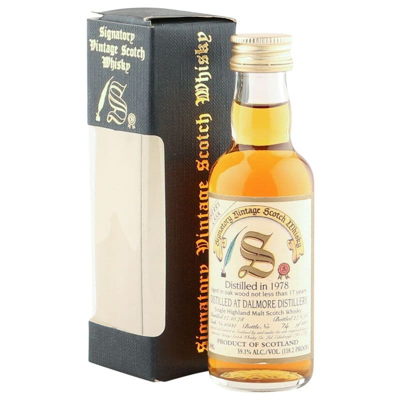 Dalmore 1978 17 Year Old, Signatory Vintage 5cl Miniature