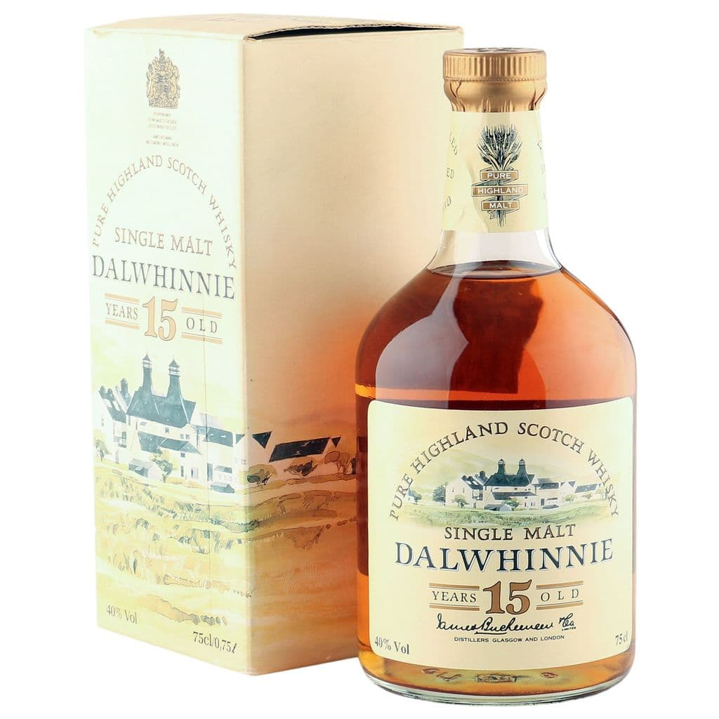 Dalwhinnie 15 Year Old, Distillery Label Eighties Bottling with Box