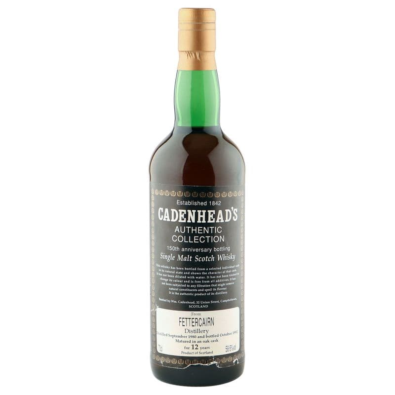Fettercairn 1980 12 Year Old, Cadenhead's 150th Anniversary 1992