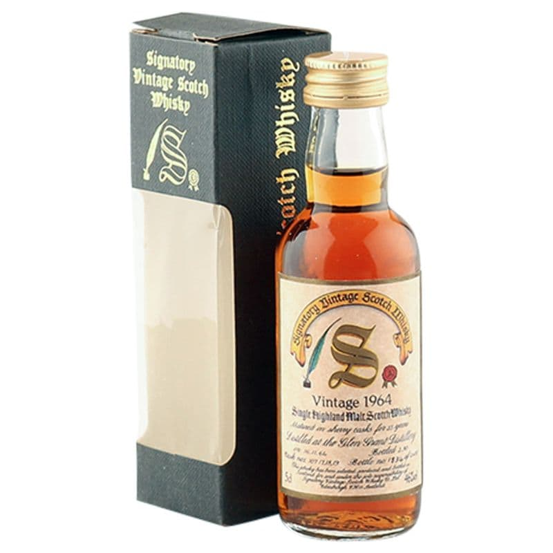 Glen Grant 1964 25 Year Old, Signatory Vintage 5cl Miniature