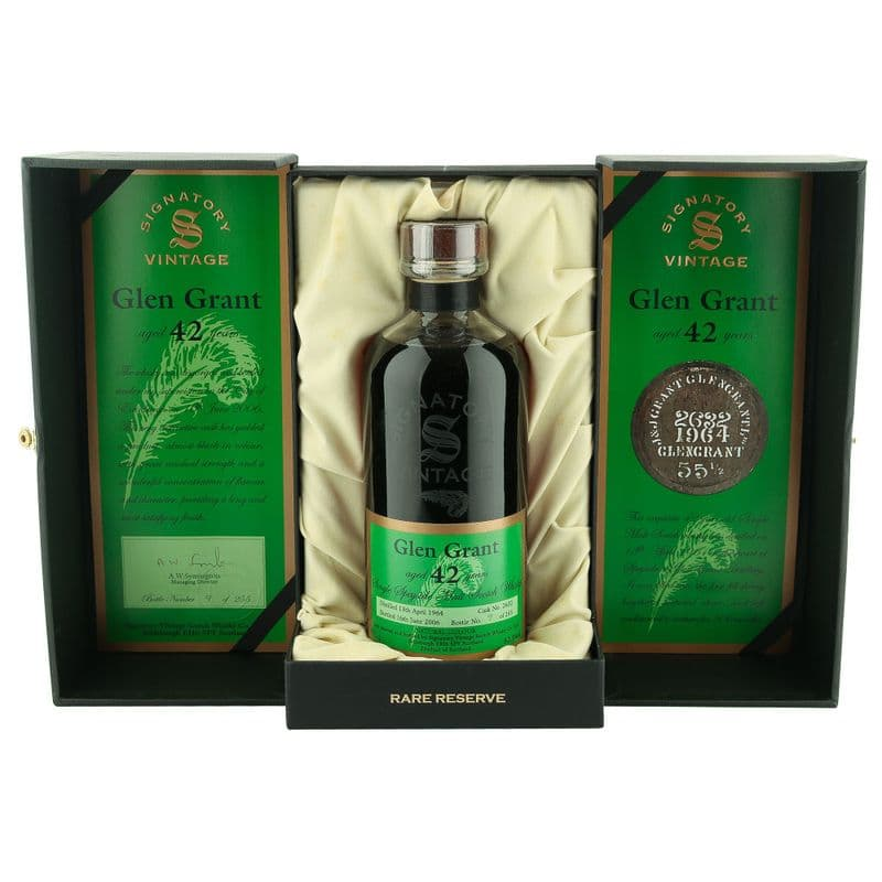 Glen Grant 1964 42 Year Old, Signatory Vintage with Presentation Case