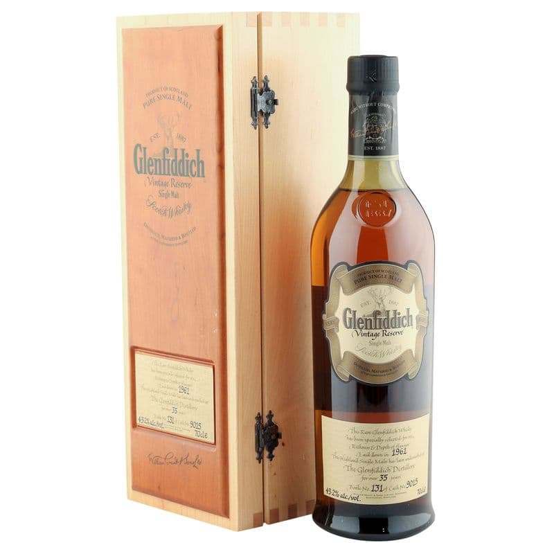 Glenfiddich 1961 35 Year Old, Vintage Reserve with Box - Cask 9015