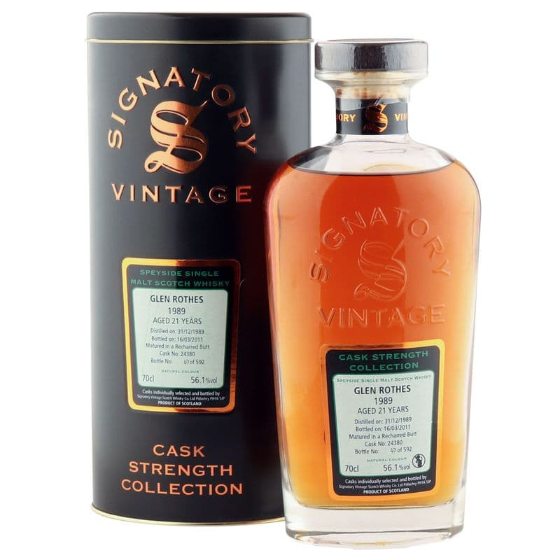 Glenrothes 1989 21 Year Old, Signatory Vintage 2011 Cask Strength