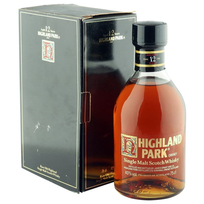 Highland Park 12 Year Old, Eighties Bottling with Box