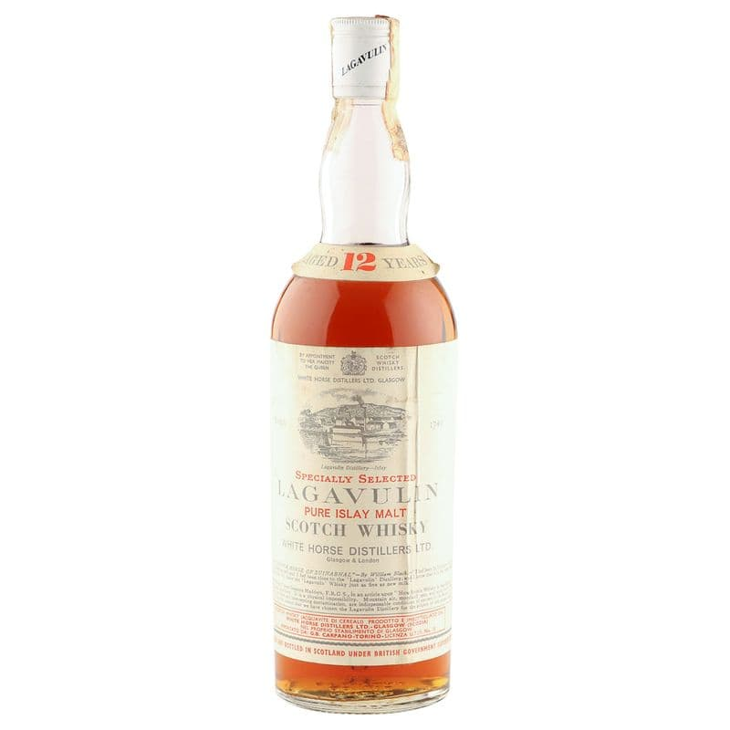 Lagavulin 12 Year Old, White Horse Distillers Seventies Bottling - Carpano Import