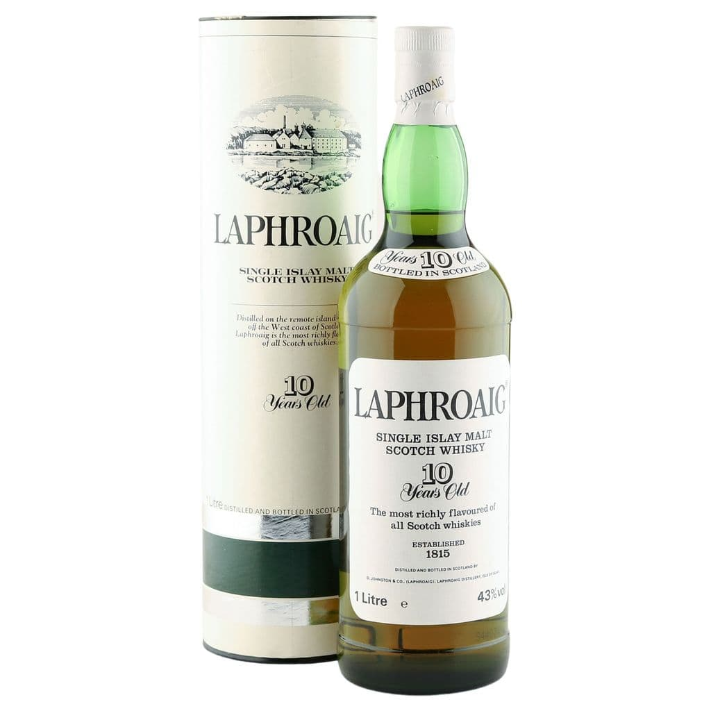 Laphroaig 10 Year Old, Litre Pre-Royal Warrant | The Whisky Vault