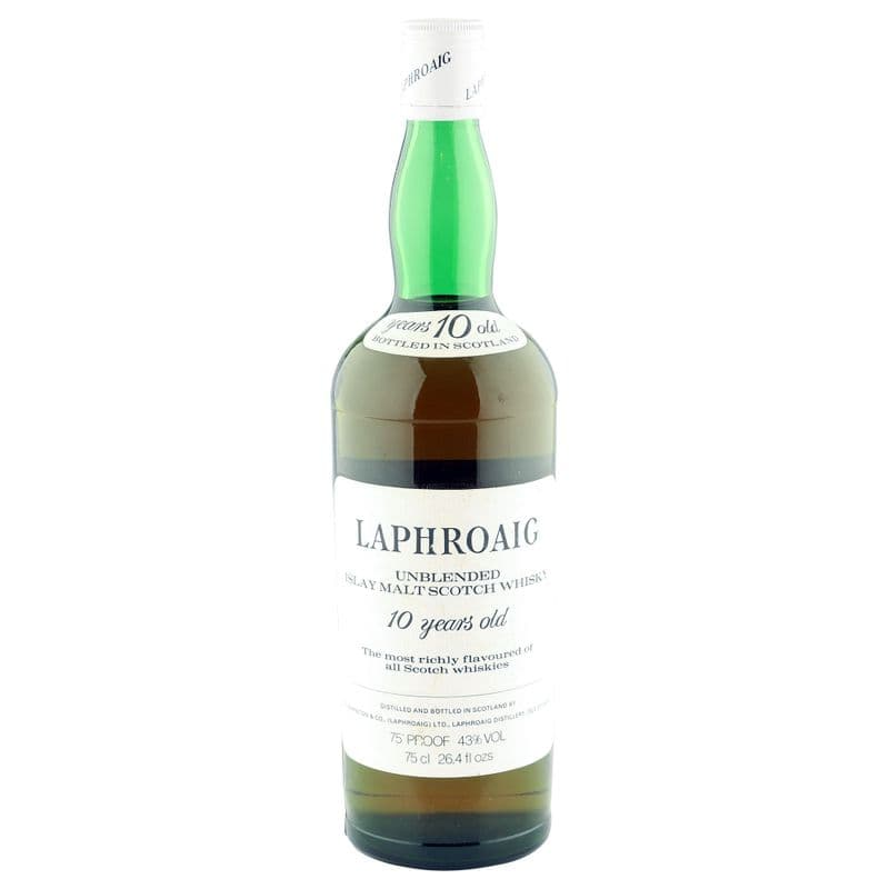 Laphroaig 10 Year Old Unblended Seventies Bottling, 43% ABV