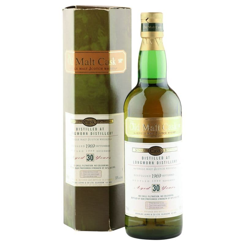Longmorn 1969 30 Year Old, The Old Malt Cask 1999 Bottling with Box