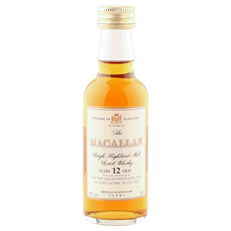 Macallan 12 Year Old, 5CL Miniature Japanese Import