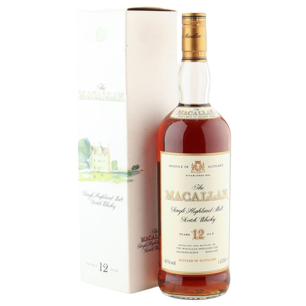 Macallan 12 Year Old, Nineties Litre Bottling with Box