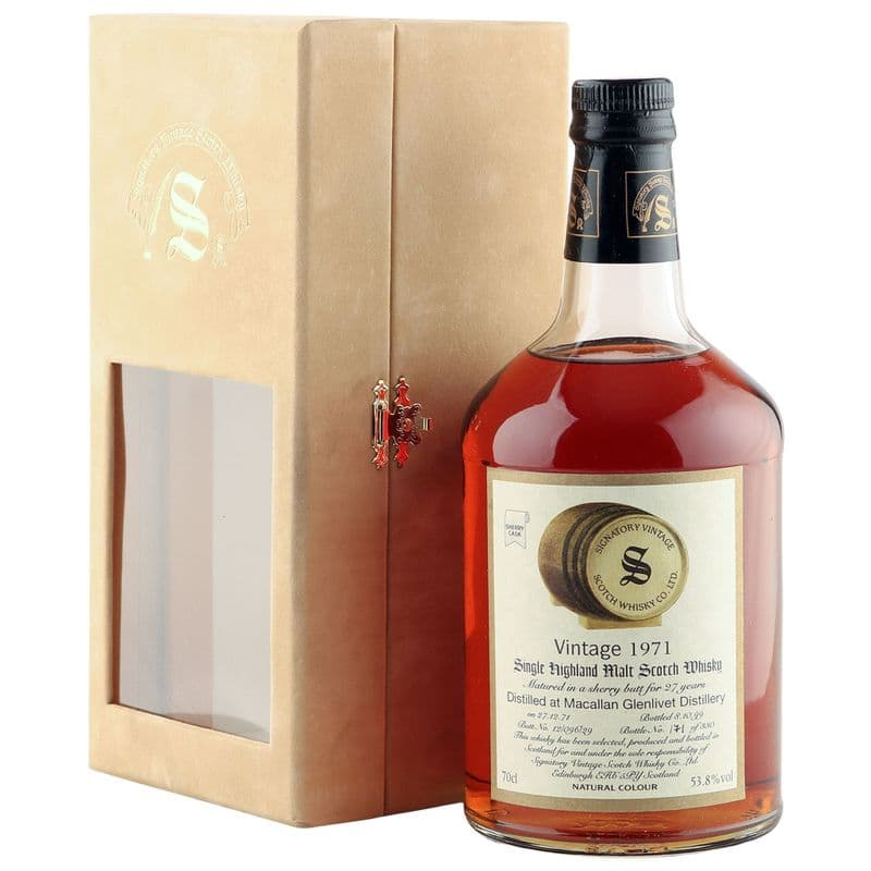 Macallan 1971 27 Year Old, Signatory Vintage 1999 Bottling with Case - Cask 12/096/29