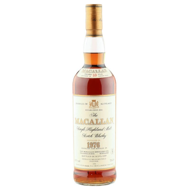 Macallan 1976 18 Year Old, French Import 1994 Bottling