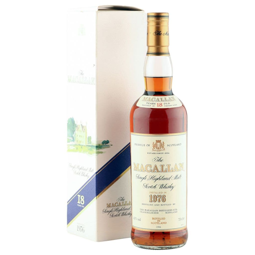 Macallan 1976 18 Year Old, UK Edition 1994 Bottling with Box