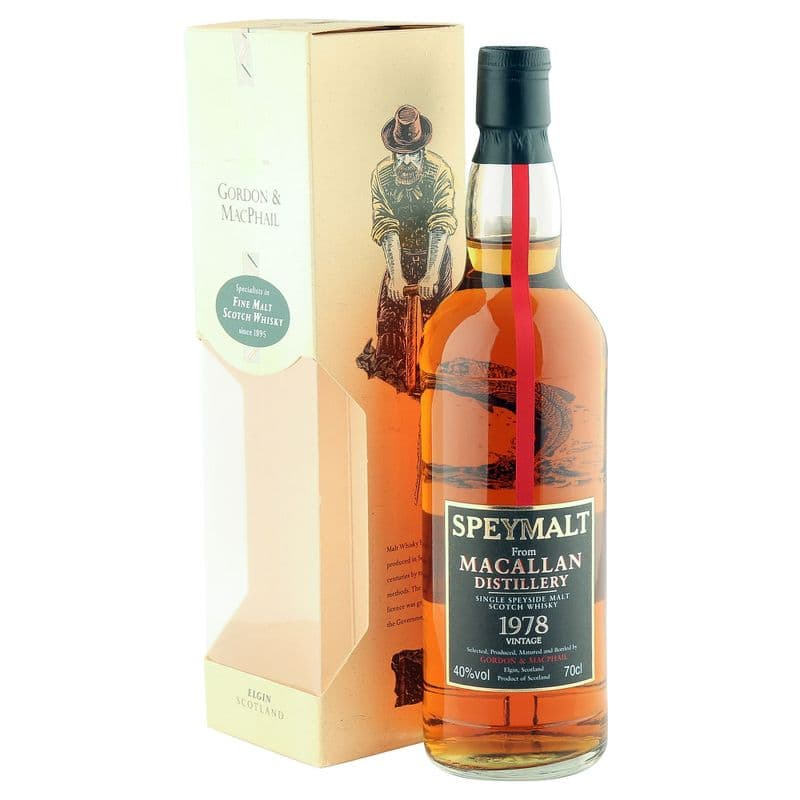 Macallan 1978 Vintage Speymalt, Gordon & Macphail 1998 Bottling