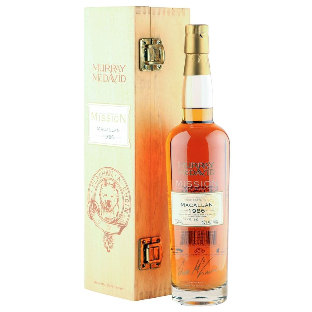 Macallan 1986 18 Year Old, Murray McDavid Mission Bottling with Box