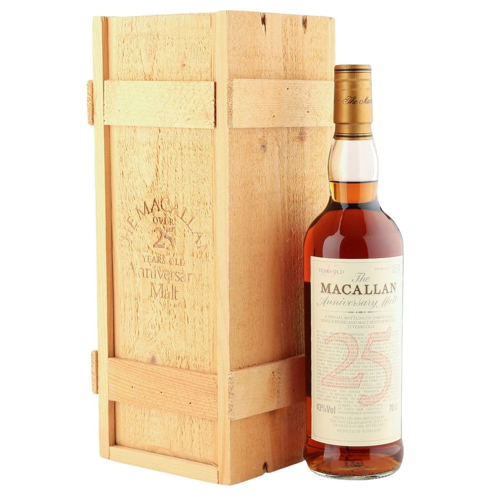 Macallan 25 Year Old Anniversary Malt with Presentation Box